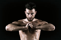 Beautiful and health athletic muscular young man royalty free stock image