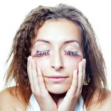 Beautiful health woman face Royalty Free Stock Image