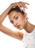 Beautiful health woman face with clean purity skin Royalty Free Stock Photo