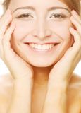 Beautiful health woman face Royalty Free Stock Photography