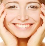 Beautiful health woman face Stock Photo