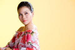 Beautiful healthy asian young women Stock Images