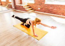 Beautiful healthy fitness woman Royalty Free Stock Photos