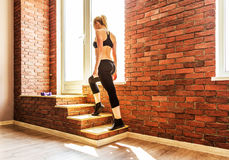 Beautiful healthy fitness woman royalty free stock image
