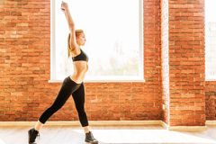 Beautiful healthy fitness woman Stock Images