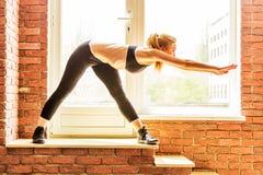 Beautiful healthy fitness woman Stock Photos