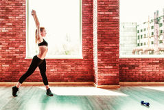 Beautiful healthy fitness woman Stock Image
