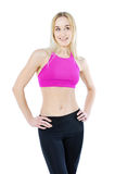 Beautiful fitness woman posing isolated on white Stock Image