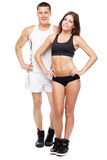 Beautiful healthy-looking couple in sports outfit Royalty Free Stock Images