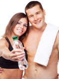 Beautiful healthy-looking couple in sports outfit Stock Image