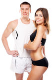 Beautiful healthy-looking couple in sports outfit Stock Photography