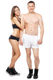 Beautiful healthy-looking couple in sports outfit Stock Photos