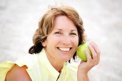 Beautiful healthy mature woman stock image
