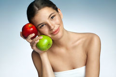 Beautiful and Healthy, natural organic raw fresh food concept Royalty Free Stock Photo