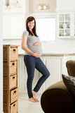 Beautiful Healthy Pregnant Woman Stock Photo