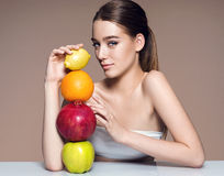 Beautiful and Healthy skin, natural organic raw fresh food concept Stock Photography