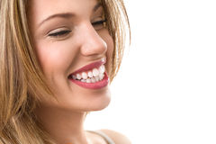 Beautiful healthy smile. Fresh woman with great teeth Stock Images