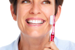 Beautiful healthy smile. Stock Photo
