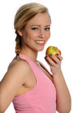 Beautiful Healthy Woman With Apple Royalty Free Stock Photo