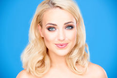 Beautiful healthy young blond woman Stock Photo