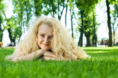 Beautiful healthy Young Woman Royalty Free Stock Photography