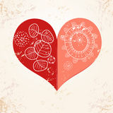 Beautiful heart Royalty Free Stock Photos
