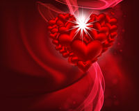 Beautiful heart background. Royalty Free Stock Photography