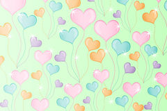Beautiful heart background Royalty Free Stock Image