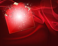 Beautiful heart background design. Stock Photo