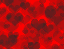 Beautiful heart boheh background. Beautiful concept red boheh background with a lot of hearts Royalty Free Stock Photos