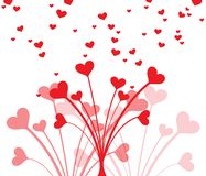 Beautiful heart bouquet for Valentines Day. Clean and lovely design for cards. stock photography