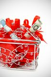 Beautiful heart box with money Royalty Free Stock Photos