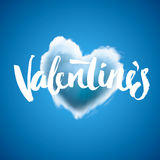 Beautiful heart cloud love for Valentines day Stock Image