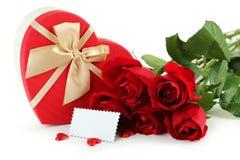 Beautiful heart gift box Royalty Free Stock Image