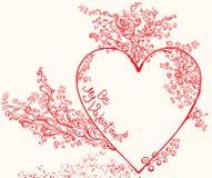 Beautiful heart. Hand Drawn. Royalty Free Stock Photo