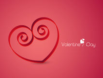 Beautiful heart for Happy Valentine's Day celebration. Stock Photos