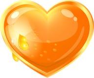 Beautiful heart from honey Royalty Free Stock Photos