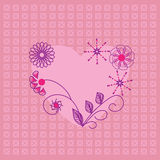 Beautiful heart icon. Card for valentines day, inv Stock Images