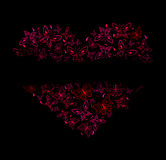 Beautiful heart from red butterflies Royalty Free Stock Photo