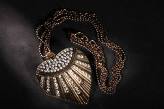 Beautiful heart rhinestone chain Stock Photo