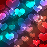 Beautiful heart shape background Stock Photography