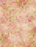 Beautiful heart shape pattern in pink spectrum Royalty Free Stock Image
