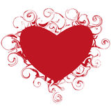 Beautiful heart with swirls Royalty Free Stock Photos