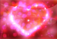 Beautiful heart of valentine. Royalty Free Stock Images