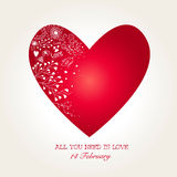 Beautiful Heart for Valentines Day Royalty Free Stock Image