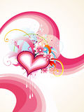 Beautiful Heart Vector design art. Beautiful  colorful heart design with stylish background Royalty Free Stock Photos