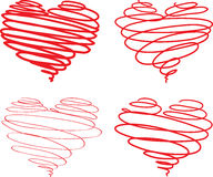 Beautiful hearts Stock Image