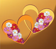 Beautiful hearts Stock Photo
