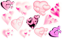 Beautiful hearts Stock Photos