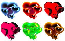 Beautiful hearts Royalty Free Stock Photo